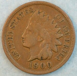 1900 Indian Head Cent Penny Liberty Very Nice Vintage Old Coin Fast S&H 34012