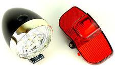 Parte delantera + atrás LED reflector bicicleta lámparas de luz de bicicleta pilas + bike ride m4