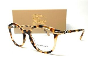 Burberry BE2264 3278 Light Havana Demo Lens Women's Phantos Eyeglasses 52mm