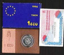 ESPAÑA. Año 1996. 1 ECU Plata TIMÓN. Peso 6,70 gr. ESCASA.
