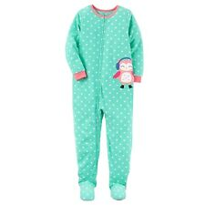 New NWT size 8 girls Carters Microfleece footed pajamas blanket sleeper winter