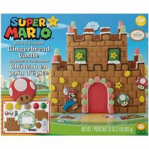 Wilton Built-it-Yourself Super Mario Nintendo Gingerbread Castle Decorating Kit
