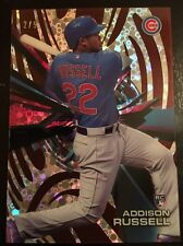 2015 Topps High Tek ADDISON RUSSELL Red Orbit Diffractor Rookie/RC Non-Auto #2/5