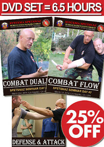 RUSSIAN SYSTEMA SPETSNAZ TRAINING - Russian Martial Arts Systema DVDs 6.5 Hours