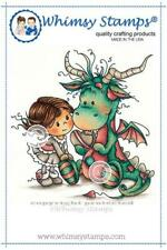 """Stempel """"Betty and Bob"""" Whimsy Stamps, Mädchen mit Drache, rubber stamp"""