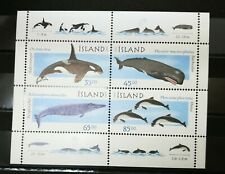 Iceland 1999 Whales Mini Sheet of 4 Stamps MNH