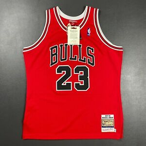 100% Authentic Michael Jordan Mitchell Ness 97 98 Bulls Jersey Size 48 XL Mens
