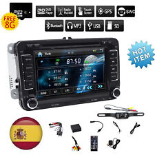 AUTORADIO FOR VW GOLF 5 6 PASSAT POLO TOURAN EOS TIGUAN GPS 2 DIN BLUETOOTH +CAM
