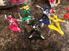 "1993 Might Morphing Power Rangers 3"" Pink, Green, Blue, Black, Yellow Rangers"