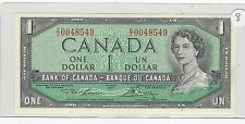 **1954**Canada $1 Note, Lawson/Bouey. BC-37d ; D/I 0048549