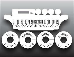 1964-1966 Mercury Comet Dash Instrument Cluster White Face Gauges