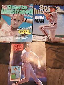 Cal Ripken Jr. Magazine Lot - Sports Illustrated & Beckett w/ 1982 Topps Cover