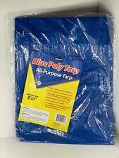 Blue Poly Tarp 5'x7' Brand New All Purpose Tarp Camping Ground Cover