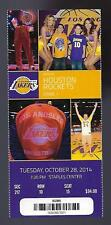 2014-2015 NBA ROCKETS @ LA LAKERS UNUSED TICKET - OCT 28 CLARKSON FIRST GAME
