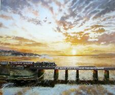 More details for stanier black 5 steam train on arnside viaduct cumbria  magnifcent mounted print