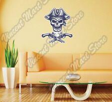 "Pirate Guns Pistol Jolly Roger Wall Sticker Room Interior Decor 18""X25"""