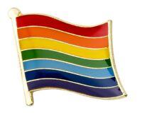 Rainbow Flag Pride Pin Lapel Badge High Quality 1-10-25-50-100