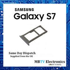 NEW Genuine Samsung Galaxy S7 Dual SIM Card / Micro SD Adaptor PLATINUM