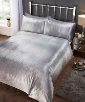 Rapport Crushed Velvet Tiffany Sequin Duvet Cover Bedding Set Silver~ FREE P&P