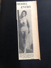 72-7 Ephemera 1956 Picture Miss Marina Ramsgate Barbara Smith