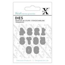 Xcut (Docrafts) Mini Paper Card Craft Metal Die (10 Pieces) - Serif Numbers