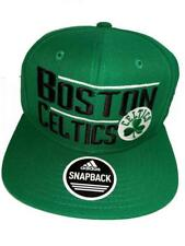 New Boston Celtics Mens Green Adidas Flatbrim Snapback Hat