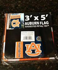 Auburn University banner flag  3' x 5' large, tailgating decor, NEW in package