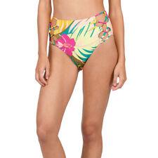 Volcom Green Womens USA Size Medium M Cutout Bikini Bottom Swimwear 766