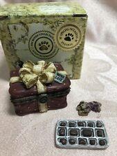 Boyds Bear Treasure Box ~ Sweetcheeks Box O'Chocolates w/Fanny McNibble