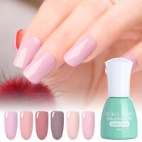 6ml Nude Series Candy Soak Off UV Gel Color Coat Manicure Nail Art UV Gel Polish