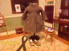 For American Girl & Bitty Doll Brown Knit Dress Shoes Ribbon & 2 Ice Cream Bars