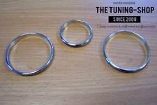 Fits Mazda Miata MK2 MX-5 NB2 98-05 Chrome Heater Surrounds Trim Rings Set Of 3