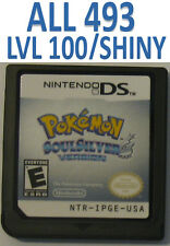 Pokemon Soul Silver Game Unlocked All 493 Shiny Event DS DSi 3DS XL SoulSilver