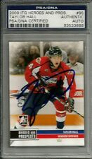 2009 ITG Heros RC Taylor Hall Edmonton Oilers Signed Auto Card PSA/DNA Slabbed