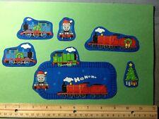 Thomas The Train Fabric Iron Ons Christmas style #2 !  Iron On Appliques