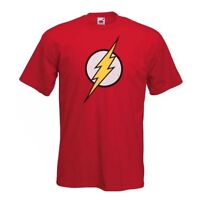 FLASH T shirt - Mens Childrens Classic Comic Super Hero Big Bang Theory Sheldon