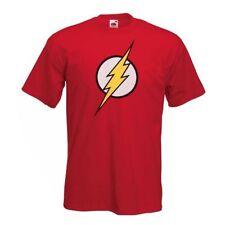 FLASH T shirt - Mens Childrens Classic Comic Super Hero Big Bang Theory Sheldon