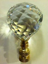 AUTHENTIC SWAROVSKI Crystal Finial Polished Brass Sphere Lamp Light Shade Gold