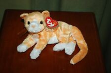 TABS the Orange and White Cat  -  Retired  - TY Beanie Baby  -  MWMT