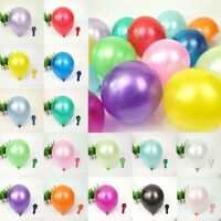 10 inch Colorful Pearl Latex Balloon Celebration Party Wedding Birthday 100Pcs
