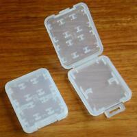 8 Slots Plastic Hard Micro SD SDHC TF MS Memory Card Storage Box tecto