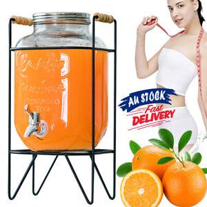 8L Drink Dispenser Beverage With Hob Water Beverage Brewing Pot Juice Jar ACB#