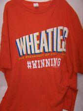 WHEATIES Vintage Style Orange Mens T-shirt 3XL WINNING Charlie Sheen Tee Shirt