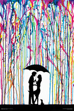 SPRAY PAINT ROMANCE POSTER - 24x36 KISS CUTE COUPLE TWO STEP 10555