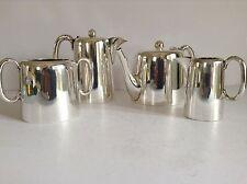 Vintage Silver Plate 4 Piece Tea & Coffee Set - Walker & Hall - Hotel Style