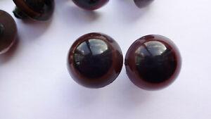 18 mm Sicherheitsaugen, 10 Bärenaugen braun - schwarze Pupille Teddy Tier