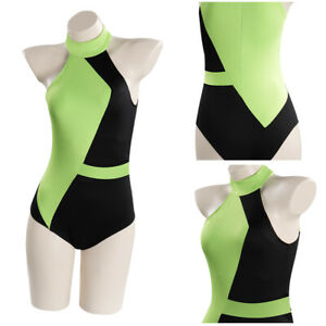 Kim Possible Shego Cosplay Costume Swimwear Outfits Carnival Suit Halloween