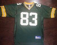 Vintage Reebok Green Bay Packers NFL Football #83 Terry Glenn Jersey Mens Medium
