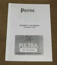 Pultra Micro Lathes Parts Listl