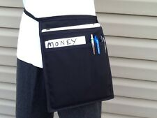Black (Top Pocket I Pad ) Hip Side Apron Waiter Waitress Money Pouch 🇺🇸